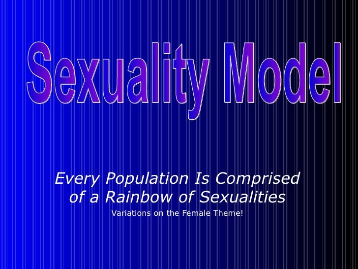 Every Population Is Comprised of a Rainbow of Sexualities Variations on the Female Theme! Sexuality Model