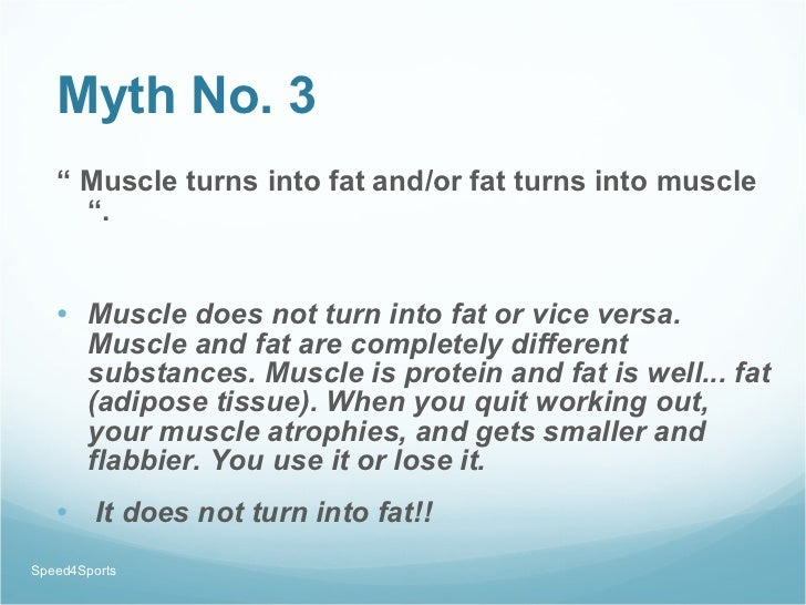 It Is True That Turns Fat into Muscle and Vice Versa?