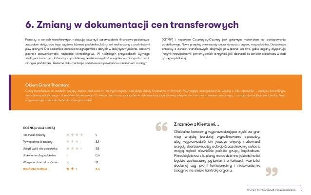 """7© Grant Thornton. Wszystkie prawa zastrzeżone. """" """" 6. Zmiany w dokumentacji cen transferowych Ceny transferowe to ostatni..."""