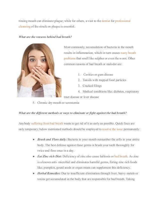 10 Natural Ways to Fight Bad Breath : Cary Dental Rejuvenation