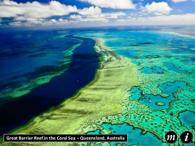 Great Barrier Reef in the Coral Sea – Queensland, Australia The Great Barrier Reef is the world's largest individual forma...