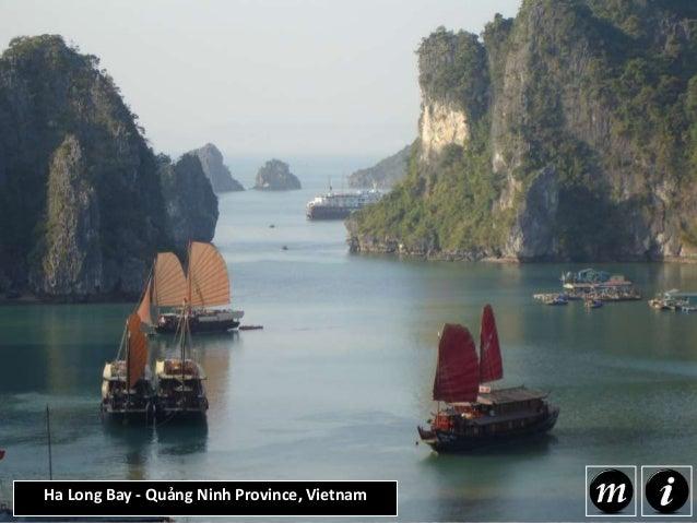 Ha Long Bay - Quảng Ninh Province, Vietnam Ha Long Bay is located in the Quang Ninh province of Vietnam traveling 120 km a...