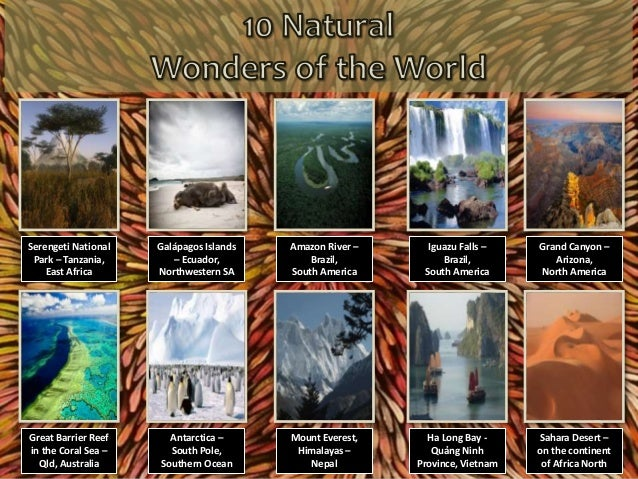 10 Natural Wonders of the World (PowerPoint) Slide 2