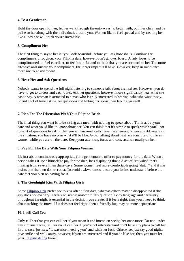 10 necessary dating tips for men seeking filipina women