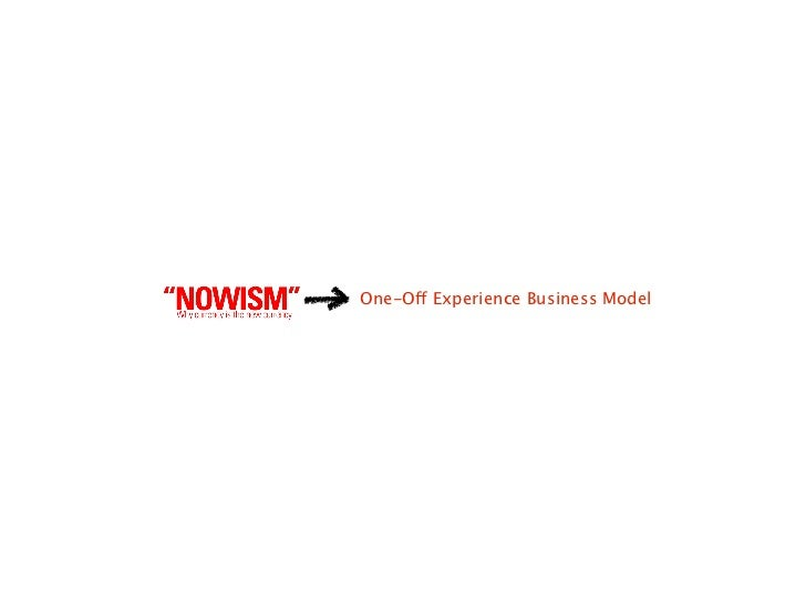 One-Off Experience Business Model     The Business Model Canvas                                                           ...