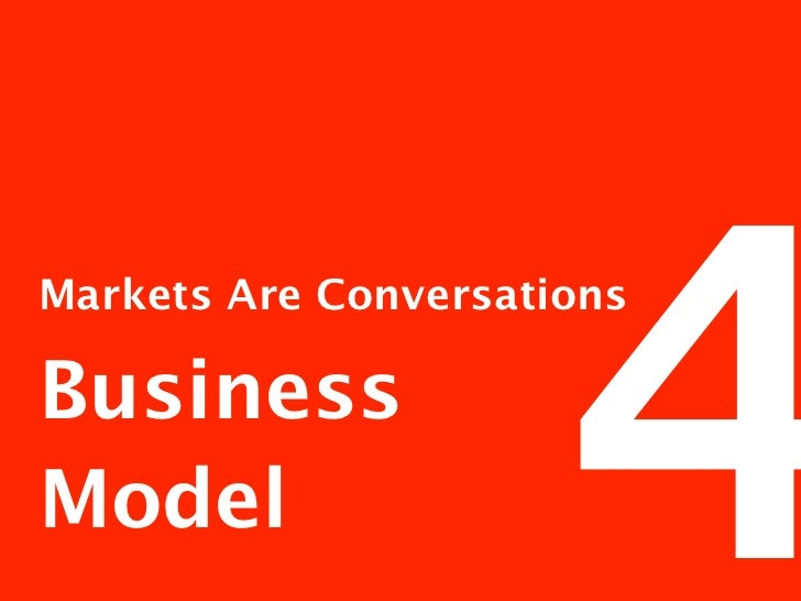 Markets Are Conversations Business Model     The Business Model Canvas                                                    ...
