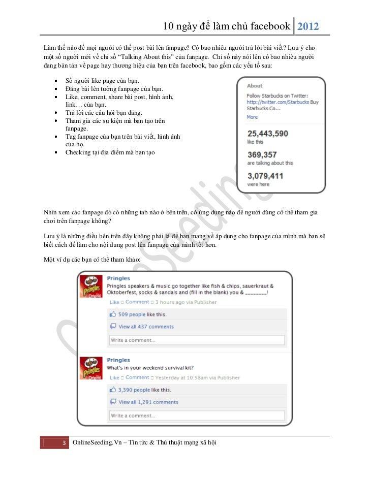 10 ngày để làm chủ Facebook Slide 3