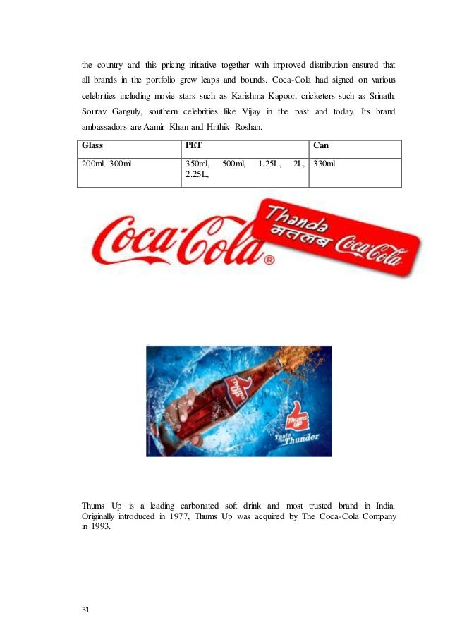 comparative study between coca cola and pepsi Abstract - this study is conducted between two global giants coca cola & pepsi- cola this research paper is basically a comparative study of two well known competitors in beverage industry of pakistan which are pepsi cola & coca cola the primary purpose of this paper is to find out which company is leading the market.