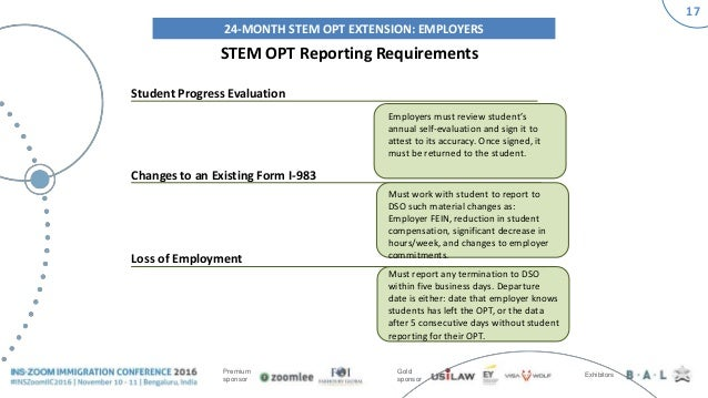 INSZoom Immigration Conference 2016 - Final Rule on STEM OPT