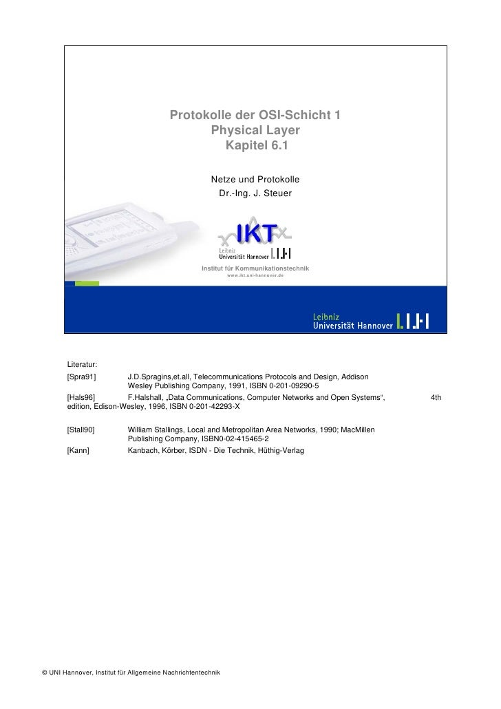 Protokolle der OSI-Schicht 1                                                Physical Layer                                ...