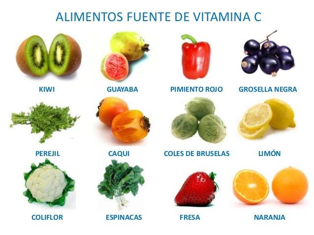 Resultado de imagen de alimentos que contienen c