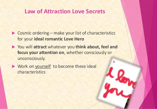 Law of attraction dating tips