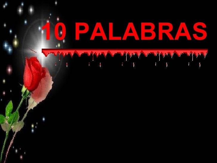10 PALABRAS