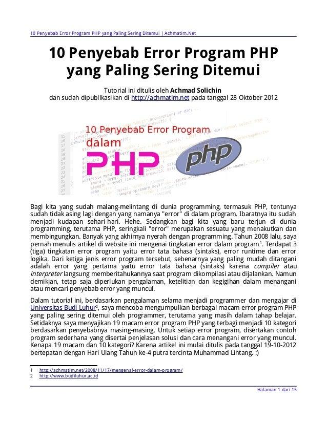 10 Penyebab Error Program PHP yang Paling Sering Ditemui | Achmatim.Net       10 Penyebab Error Program PHP         yang P...