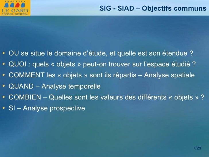 <ul><li>OU se situe le domaine d'étude, et quelle est son étendue ? </li></ul><ul><li>QUOI : quels «objets» peut-on trou...
