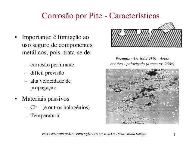 PMT 2507- CORROSÃO E PROTEÇÃO DOS MATERIAIS - Neusa Alonso-Falleiros 1  • Importante: é limitação ao  uso seguro de compon...