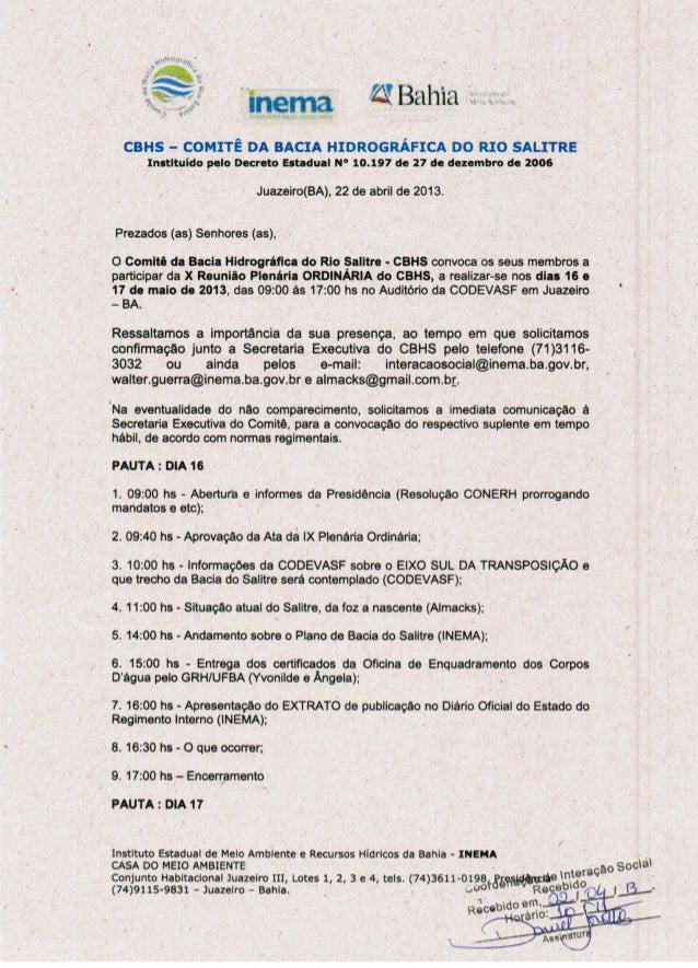 10 plenária plenária ordinária juazeiro 16 e 17 05-2013