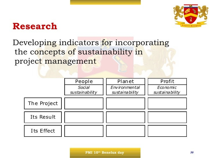 sustainability in project management The integration of sustainability in project management is very important   however, sustainability and project management (pm) have grown apart from  each.