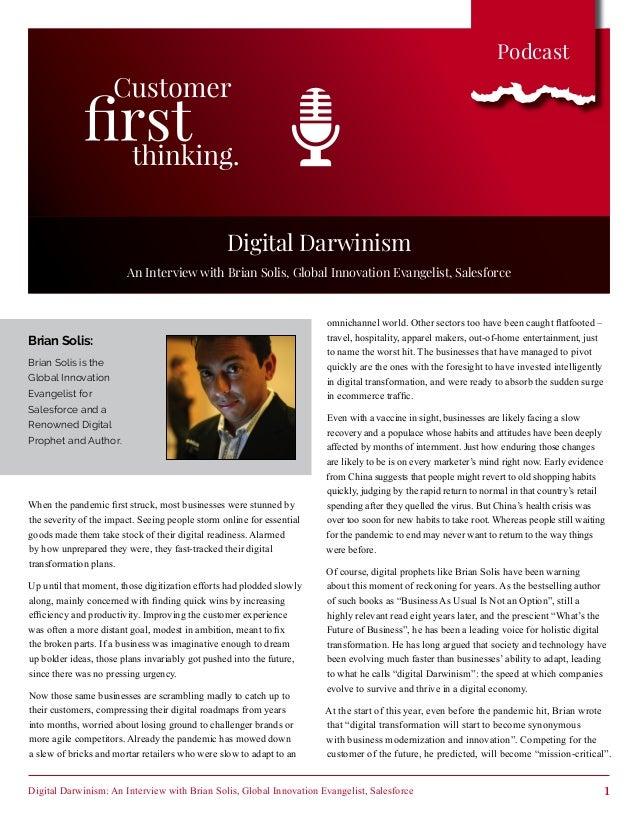 Digital Darwinism: An Interview with Brian Solis, Global Innovation Evangelist, Salesforce 1 Podcast omnichannel world. Ot...