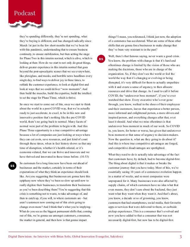 Digital Darwinism: An Interview with Brian Solis, Global Innovation Evangelist, Salesforce - Customer First Thinking Slide 3