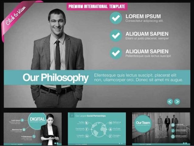 Premium International Presentation Template