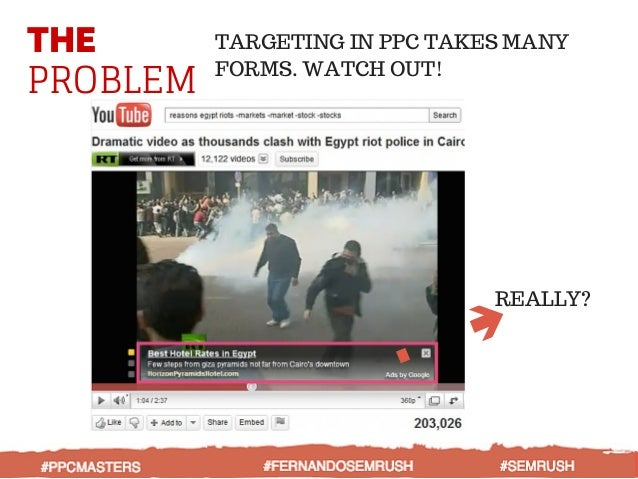 THE PROBLEM TARGETING IN PPC TAKES MANY FORMS. WATCH OUT! REALLY? #PPCMASTERS