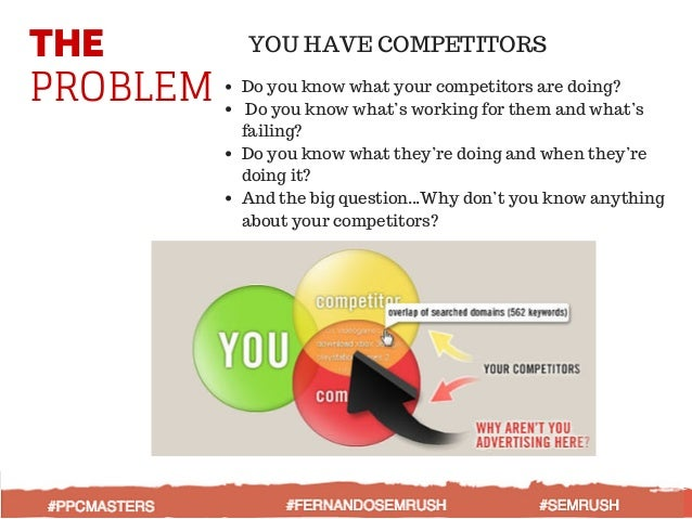 THE PROBLEM YOU HAVE COMPETITORS Do you know what your competitors are doing? Do you know what's working for them and what...