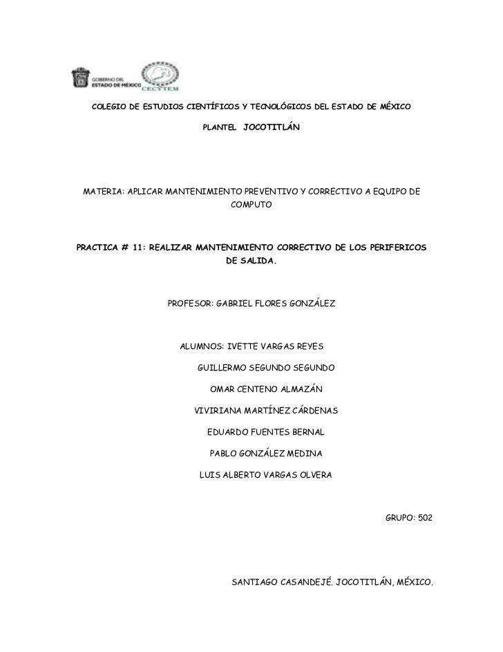 COLEGIO DE ESTUDIOS CIENTÍFICOS Y TECNOLÓGICOS DEL ESTADO DE MÉXICO                          PLANTEL JOCOTITLÁN MATERIA: A...