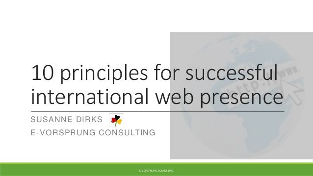 10 principles for a successful international web presence