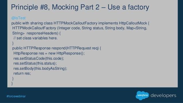 Httpcalloutmock Interface  10 Principles of Apex Testing