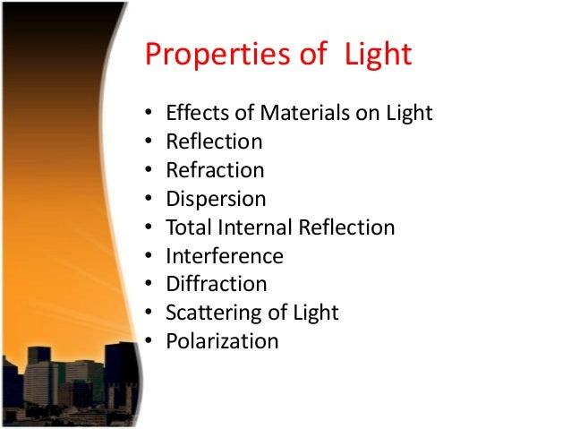 What Are the Basic Properties of Light?