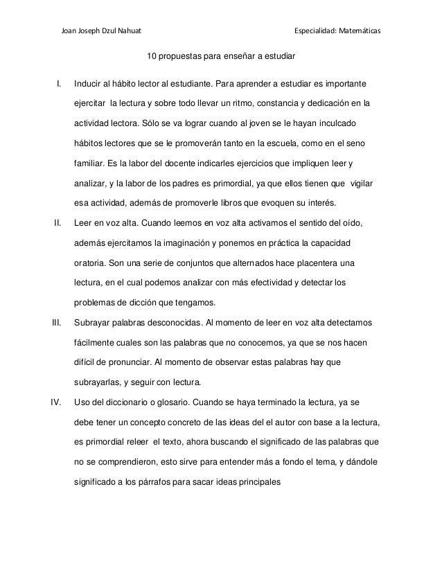 Joan Joseph Dzul Nahuat                                        Especialidad: Matemáticas                                10...