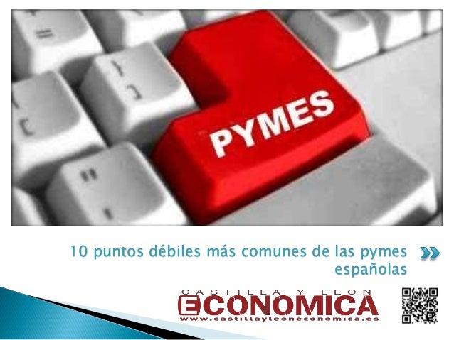 10 puntos débiles más comunes de las pymes españolas