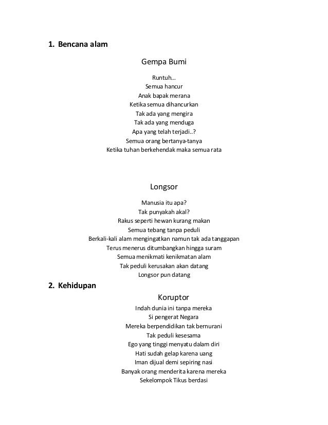 10 Puisi Aneh