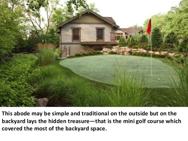 Backyard Golf Course Design backyard pool house designs view in gallery shape a stunning backyard with the ideal small pooldesign 3