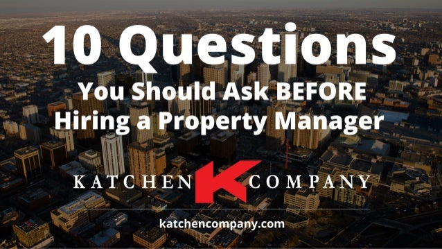 1. Are you licensed in Colorado to manage property? Managing property requires a very specialized skill set and very few p...