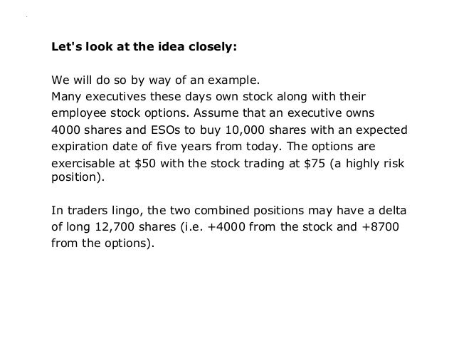 Employee stock options hedging