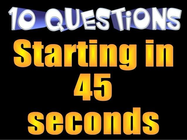 10 Questions Bunsen Burners