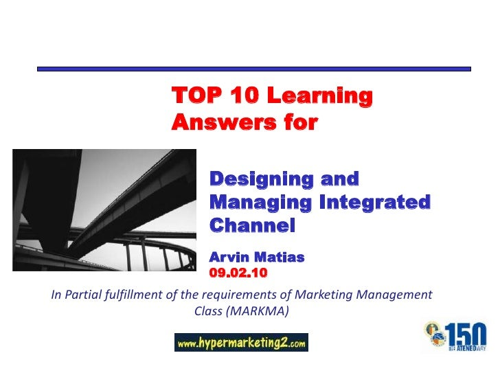 TOP 10 Learning                     Answers for                             Designing and                            Manag...