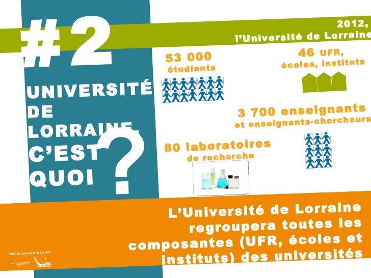 2012 l'Université de Lorraine, ça change quoi ? Slide 3