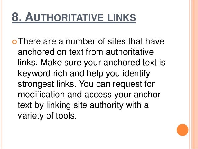 9. VERIFY LOCAL LISTING It becomes important to use off-site listings that are owned by you, to make the search more loca...