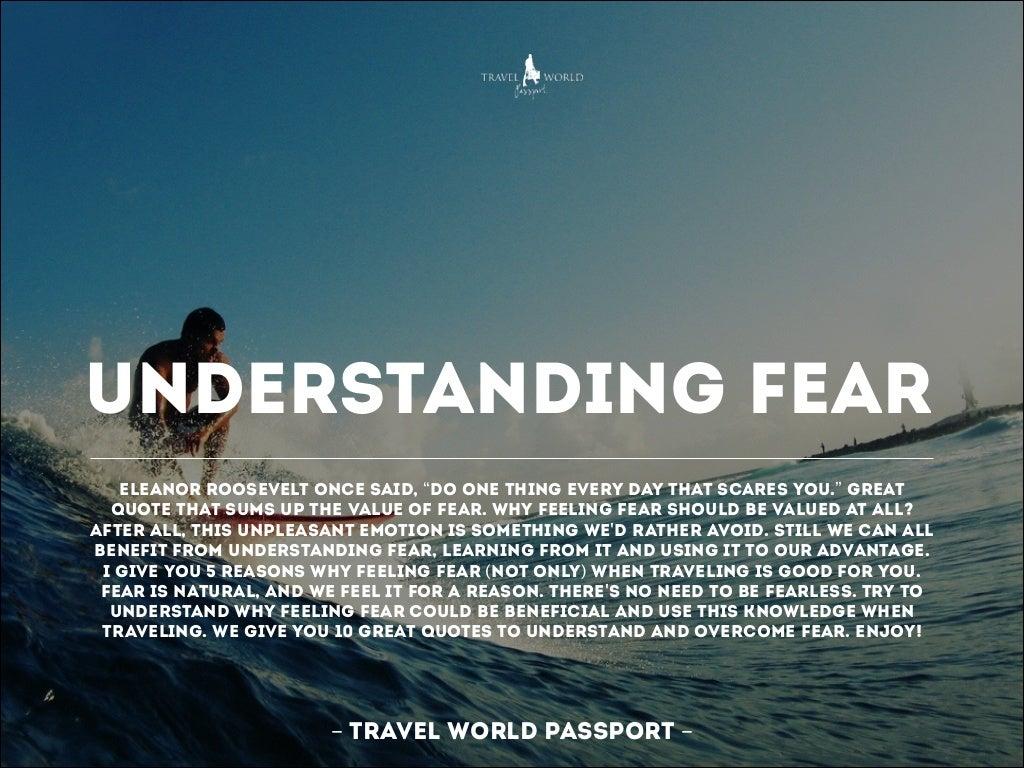 Understanding Fear Eleanor Roosevelt Once