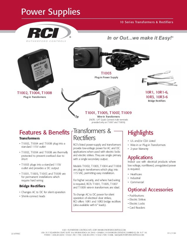 ©2011 RUTHERFORD CONTROLS INT'L CORP. WWW.RUTHERFORDCONTROLS.COM USA: 2517 SQUADRON COURT, SUITE 104, VIRGINIA BEACH, VA 2...