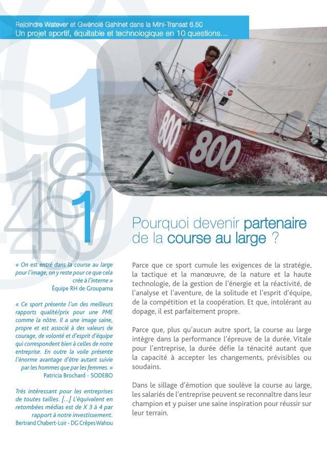 Mini-Transat 2013 : 10 bonnes raisons de rejoindre Gwénolé Gahinet et Watever Slide 2