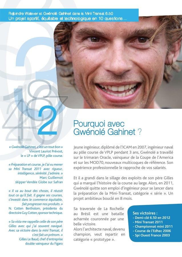 Mini-Transat 2013 : 10 bonnes raisons de rejoindre Gwénolé Gahinet et Watever Slide 3
