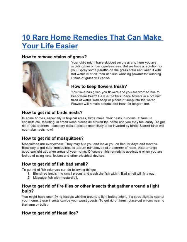 10 rare home remedies that can make your life easier