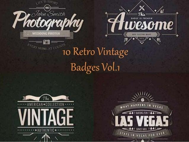 10 realistic vintage logo templates psd 10 retro vintage badges vol1 pronofoot35fo Image collections