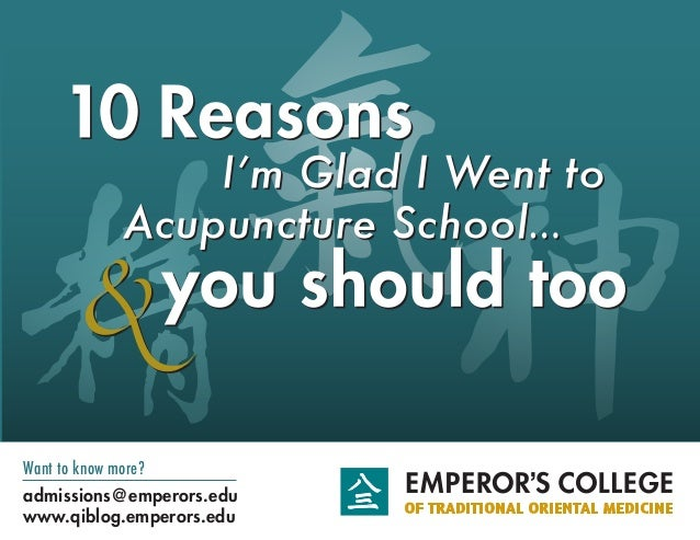 Want to know more? admissions@emperors.edu www.qiblog.emperors.edu