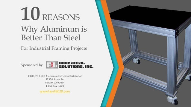 10 Reasons That 80 20 T Slot Aluminum Is Better Than Steel