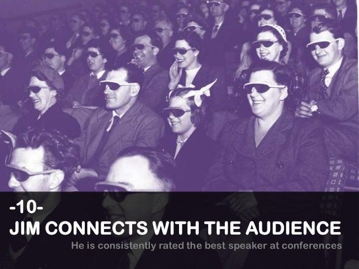 TOP 10 Reasons to Hire Keynote Speaker Jim Feldman Slide 2